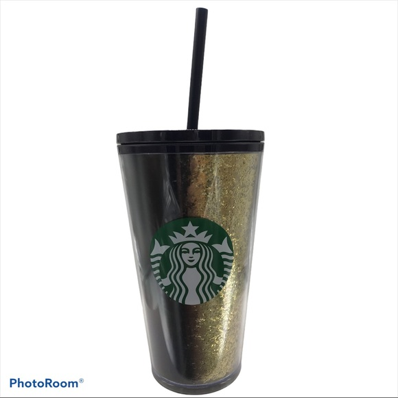 Starbucks Exclusive Holiday 2020 Black Gold Glitte